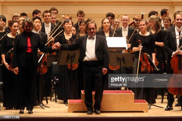 James Conlon leading the Juilliard Orchestra at Carnegie Hall on Monday night October 27th 2008They performed Ellen Taaffe Zwilich's 'Symphony No 5'...