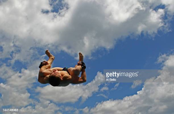 James Connor of Australia dives during the Men's 10m Platform preliminaries at the Fort Lauderdale Aquatic Center on Day 1 of the ATT USA Diving...
