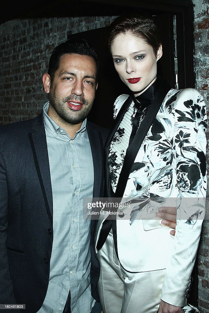 James Conran and <a gi-track='captionPersonalityLinkClicked' href=/galleries/search?phrase=Coco+Rocha&family=editorial&specificpeople=4172514 ng-click='$event.stopPropagation()'>Coco Rocha</a> attend the Glamour dinner for Patrick Demarchelier as part of the Paris Fashion Week Womenswear Spring/Summer 2014 at Monsieur Bleu restaurant on September 29, 2013 in Paris, France.