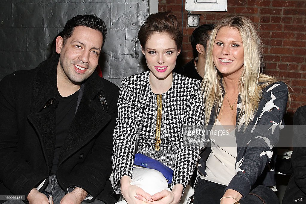 James Conran, <a gi-track='captionPersonalityLinkClicked' href=/galleries/search?phrase=Coco+Rocha&family=editorial&specificpeople=4172514 ng-click='$event.stopPropagation()'>Coco Rocha</a> and Alexandra RIchards attend the Sass & Bide fashion show during Mercedes-Benz Fashion Week Fall 2014 at The Waterfront on February 12, 2014 in New York City.