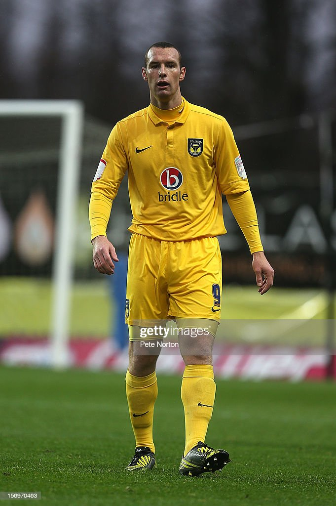James Constable of Oxford United in action during the npower League Two match between Oxford United and Northampton Town at Kassam Stadium on November 24, 2012 in Oxford, England.