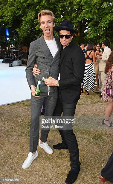 James Cook and Hugo Heathcote attend The Serpentine Gallery summer party at The Serpentine Gallery on July 2 2015 in London England