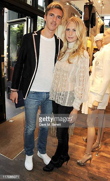 James Cook and Poppy Delevingne attend the Ralph Lauren Wimbledon Party on June 21 2011 in London England