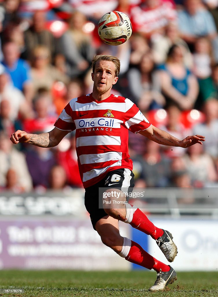 James Coppinger of Doncaster in action during the npower League One match between Doncaster Rovers and Notts County at the Keepmoat Stadium on April 20, 2013 in Doncaster, England.