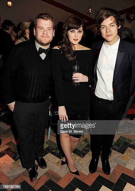 James Corden Alexandra Roach and Harry Styles attend a private dinner hosted by Sir Paul Smith Tinie Tempah and GQ editor Dylan Jones to celebrate...