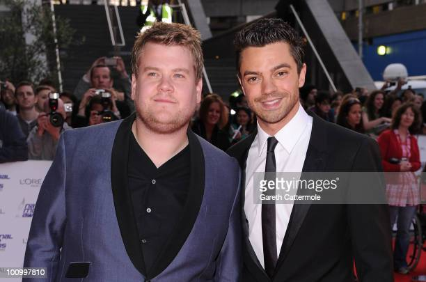 James Corden and Dominic Cooper attend the National Movie Awards 2010 at the Royal Festival Hall on May 26 2010 in London England