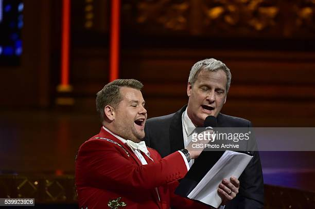James Corden and Jeff Daniels at THE 70TH ANNUAL TONY AWARDS live from the Beacon Theatre in New York City Sunday June 12 on the CBS Television...