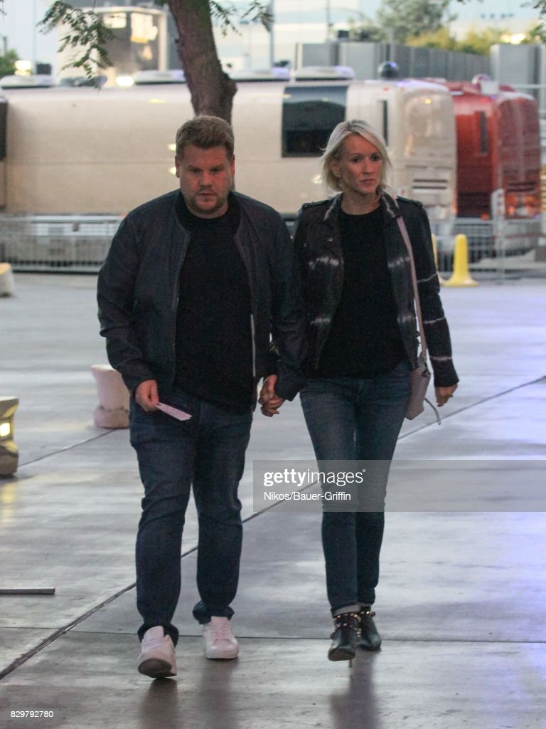 James Corden and Julia Carey are seen on August 10, 2017 in Los Angeles, California.