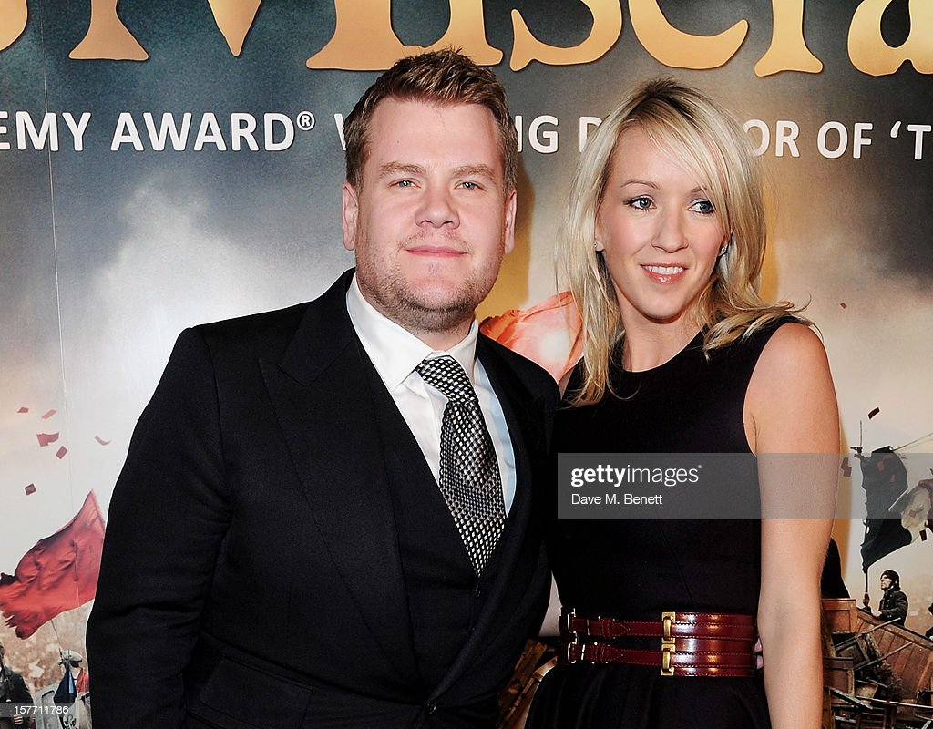 James Corden (L) and Julia Carey attend an after party following the World Premiere of 'Les Miserables' at The Roundhouse on December 5, 2012 in London, England.