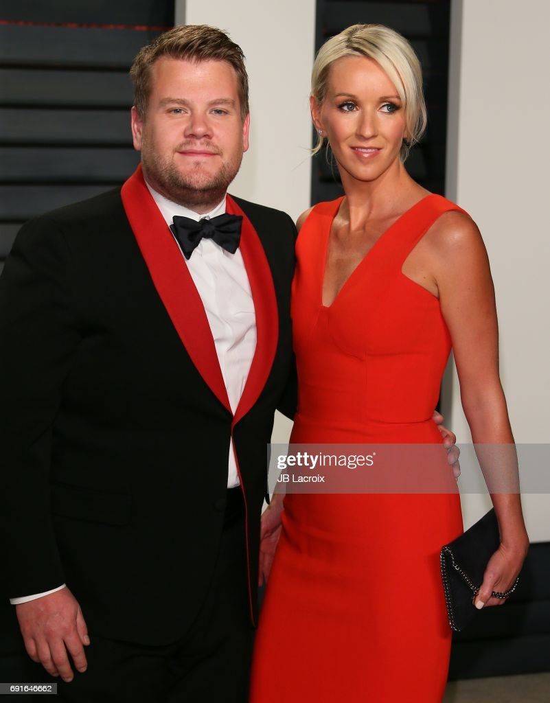 James Corden and Julia Carey attend the 2017 Vanity Fair Oscar Party hosted by Graydon Carter at Wallis Annenberg Center for the Performing Arts on February 26, 2017 in Beverly Hills, California.