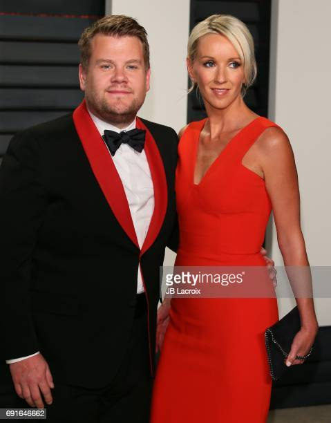 James Corden and Julia Carey attend the 2017 Vanity Fair Oscar Party hosted by Graydon Carter at Wallis Annenberg Center for the Performing Arts on...