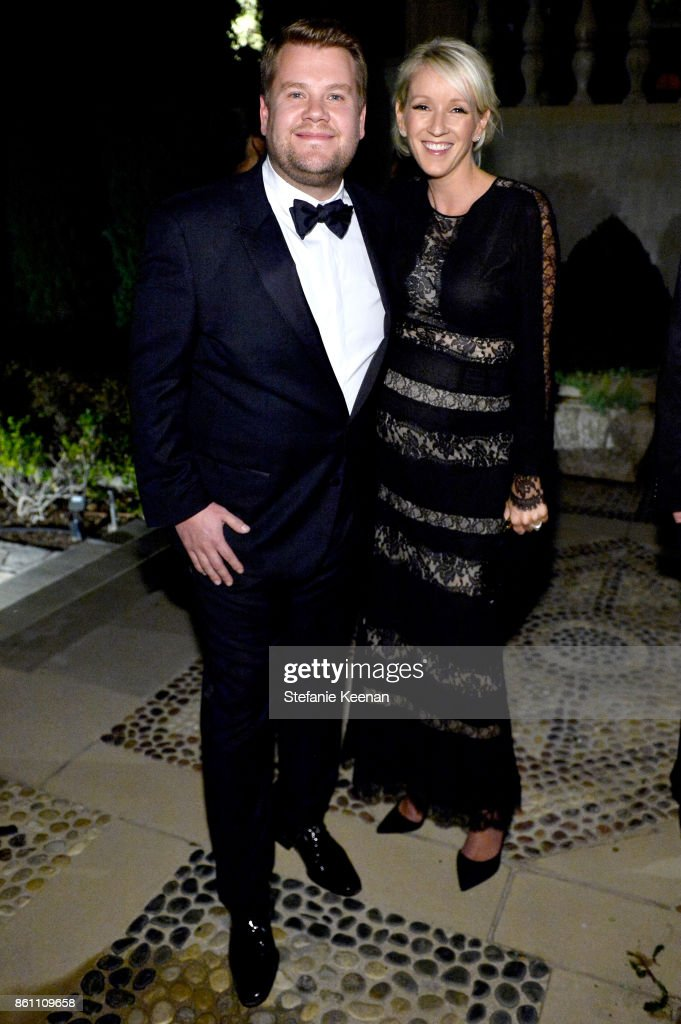 James Corden and Julia Carey attend the amfAR Gala 2017 at Ron Burkle's Green Acres Estate on October 13, 2017 in Beverly Hills, California.