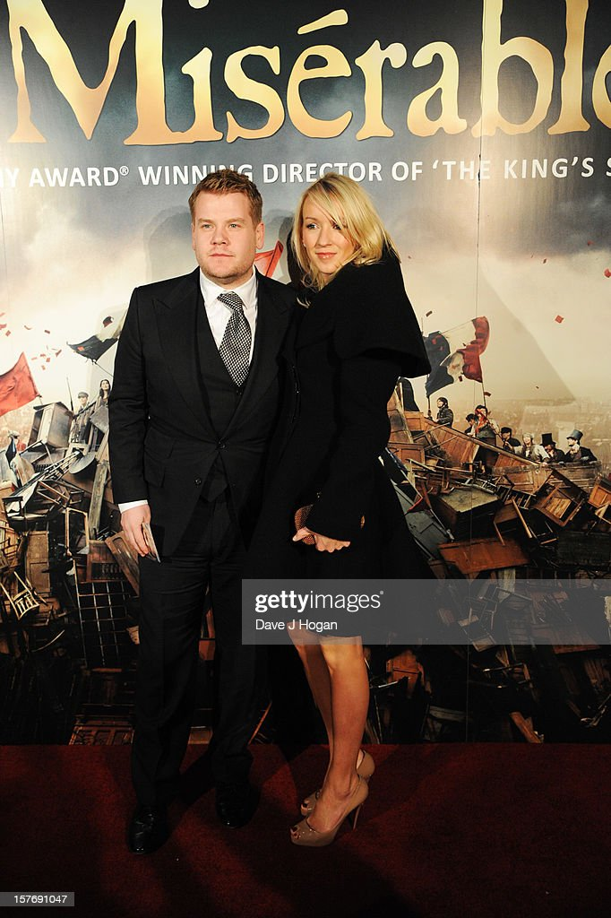 <a gi-track='captionPersonalityLinkClicked' href=/galleries/search?phrase=James+Corden&family=editorial&specificpeople=673860 ng-click='$event.stopPropagation()'>James Corden</a> and Julia Carey attend the world premiere after party for Les Miserables at The Odeon Leicester Square on December 5, 2012 in London, England.