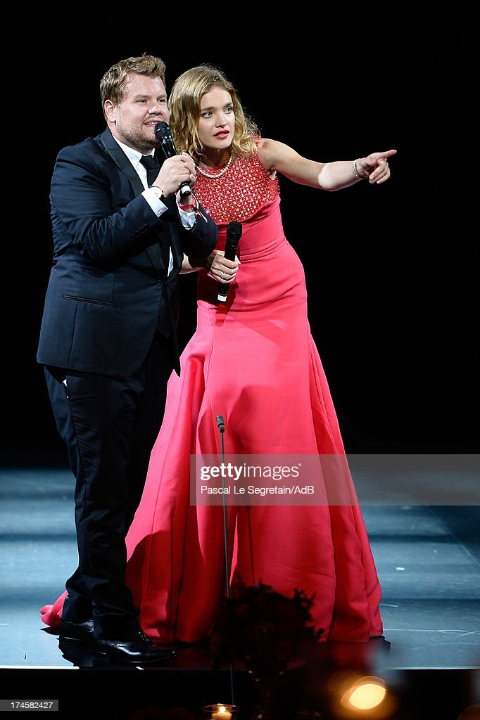 James Corden and Natalia Vodianova attend the dinner at 'Love Ball' hosted by Natalia Vodianova in support of The Naked Heart Foundation at Opera Garnier on July 27, 2013 in Monaco, Monaco.
