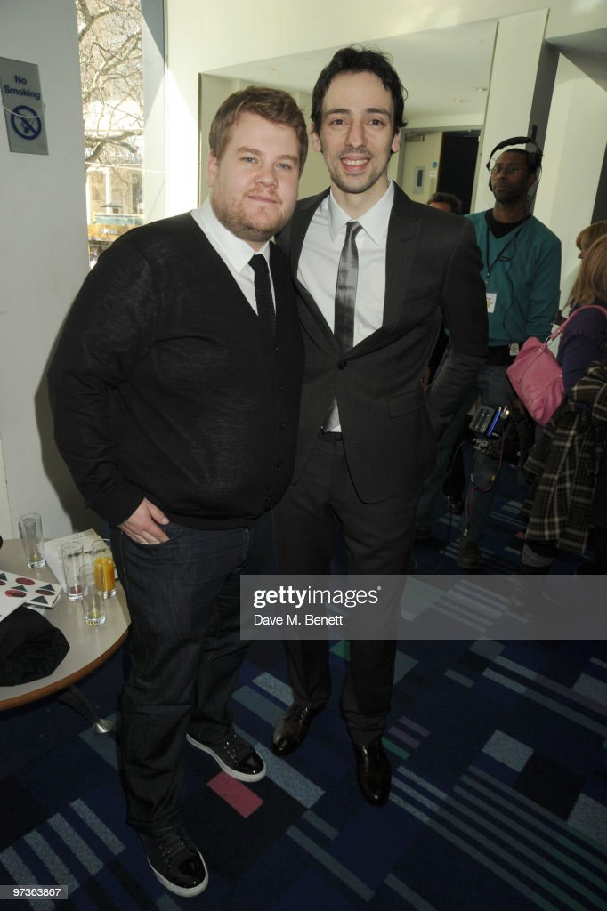 James Corden and Ralf Little attend the First Light Movie Awards at Odeon Leicester Square on March 2 2010 in London England