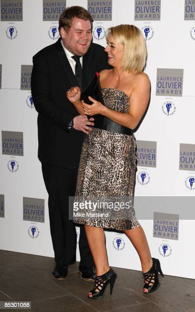 James Corden and Sheridan Smith arrive at the Laurence Olivier Awards at the Grosvenor House on March 8 2009 in London England