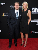 James Corden and wife Julia Carey arrive at the 3rd Biennial Rebels With A Cause Fundraiser at Barker Hangar on May 11 2016 in Santa Monica California