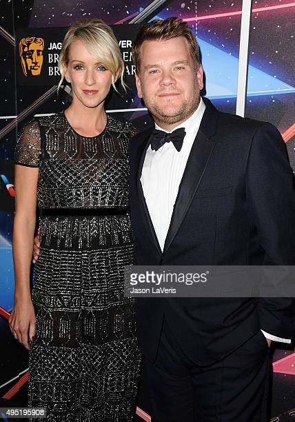 James Corden and wife Julia Carey attend the 2015 British Academy Britannia Awards at The Beverly Hilton Hotel on October 30 2015 in Beverly Hills...