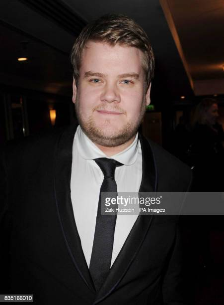 James Corden arrives for the Laurence Olivier Awards at the Grosvenor Hotel in central London