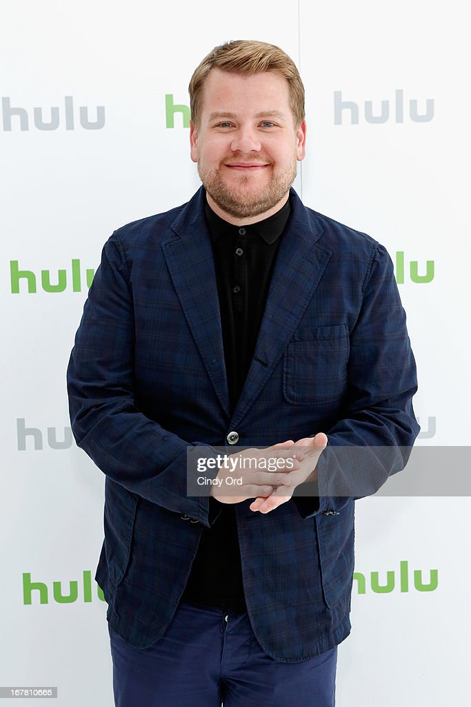 <a gi-track='captionPersonalityLinkClicked' href=/galleries/search?phrase=James+Corden&family=editorial&specificpeople=673860 ng-click='$event.stopPropagation()'>James Corden</a> attends Hulu NY Press Junket on April 30, 2013 in New York City.