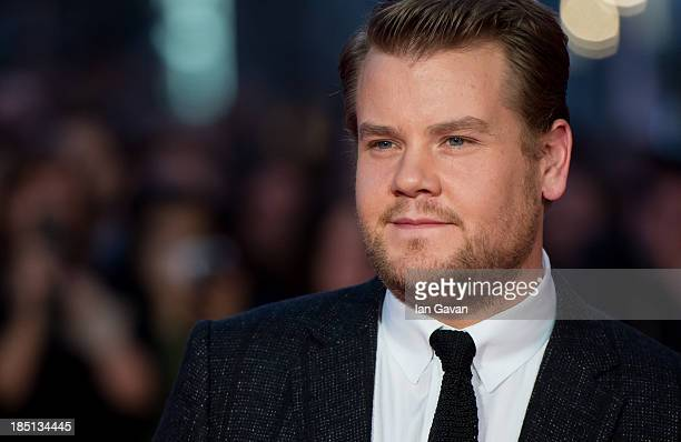 James Corden attends the European premiere of 'One Chance' at The Odeon Leicester Square on October 17 2013 in London England