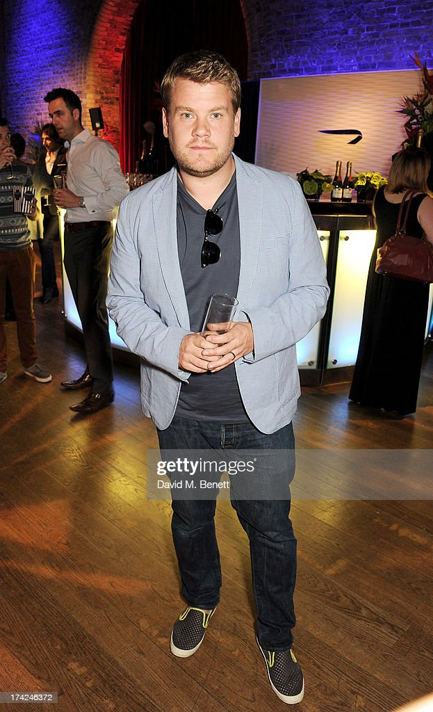 <a gi-track='captionPersonalityLinkClicked' href=/galleries/search?phrase=James+Corden&family=editorial&specificpeople=673860 ng-click='$event.stopPropagation()'>James Corden</a> attends the launch of British Airways Silent Picturehouse at Vinopolis on July 22, 2013 in London, England.