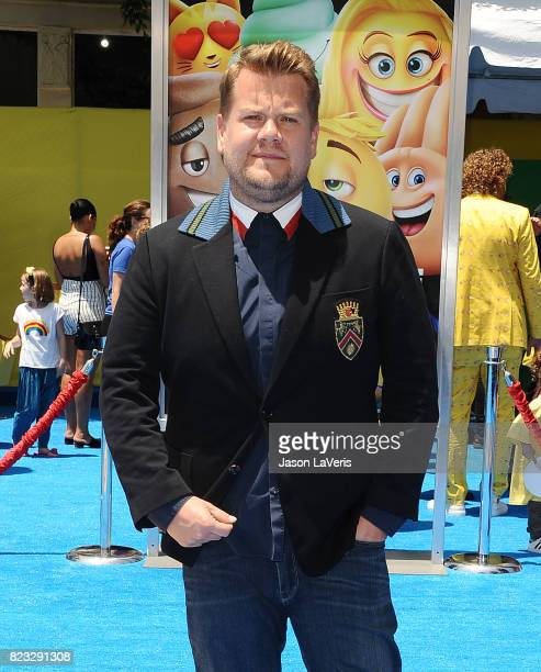 James Corden attends the premiere of 'The Emoji Movie' at Regency Village Theatre on July 23 2017 in Westwood California
