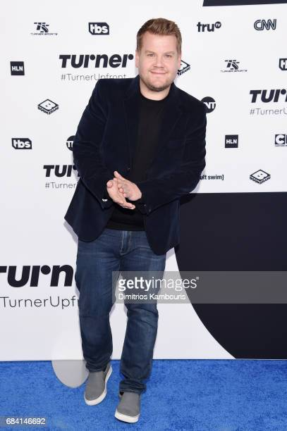James Corden attends the Turner Upfront 2017 arrivals on the red carpet at The Theater at Madison Square Garden on May 17 2017 in New York City...