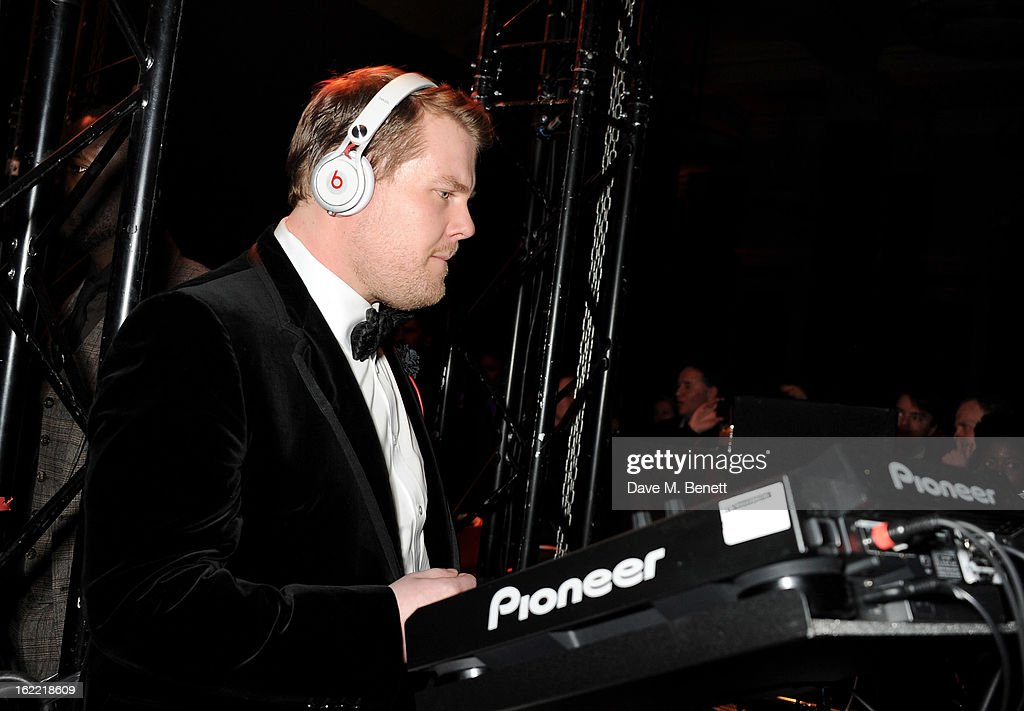<a gi-track='captionPersonalityLinkClicked' href=/galleries/search?phrase=James+Corden&family=editorial&specificpeople=673860 ng-click='$event.stopPropagation()'>James Corden</a> attends the Universal Music Brits Party hosted by Bacardi at the Soho House pop-up on February 20, 2013 in London, England.
