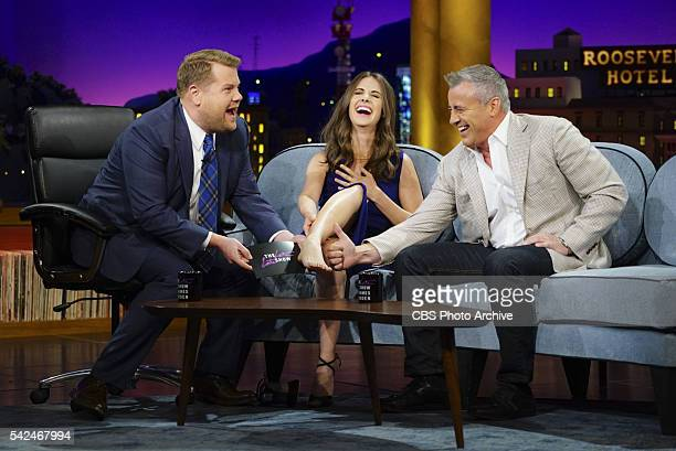 James Corden chats with Alison Brie and Matt LeBlanc on 'The Late Late Show with James Corden' Tuesday June 14 on The CBS Television Network