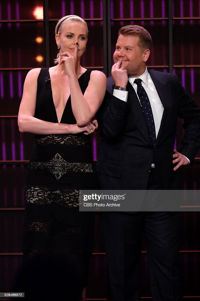 James Corden chats with Charlize Theron on 'The Late Late Show with James Corden' Thursday April 21st 2016 on The CBS Television Network