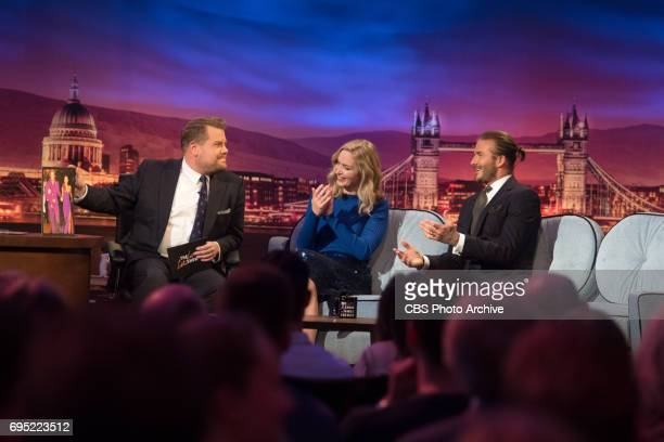 James Corden chats with Emily Blunt and David Beckham on 'The Late Late Show with James Corden' airing Thursday June 8th 2017 from London On The CBS...