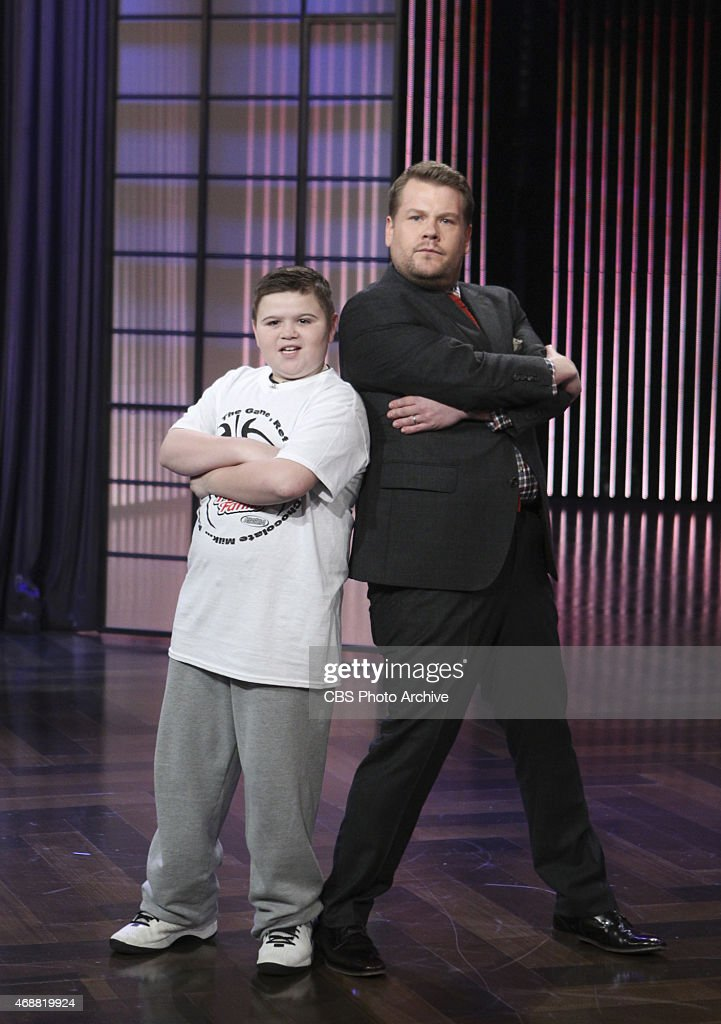 James Corden dances with Peyton Henderson on 'The Late Late Show with James Corden' Tuesday March 31 on the CBS Television Network