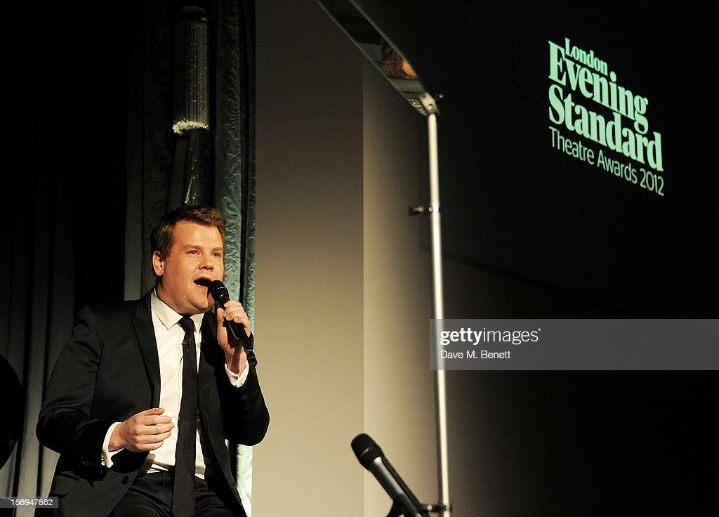 James Corden hosts the 58th London Evening Standard Theatre Awards in association with Burberry at The Savoy Hotel on November 25, 2012 in London, England.