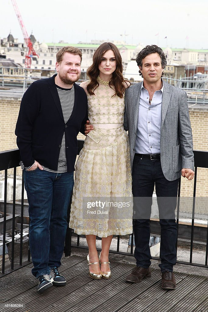 <a gi-track='captionPersonalityLinkClicked' href=/galleries/search?phrase=James+Corden&family=editorial&specificpeople=673860 ng-click='$event.stopPropagation()'>James Corden</a>, <a gi-track='captionPersonalityLinkClicked' href=/galleries/search?phrase=Keira+Knightley&family=editorial&specificpeople=202053 ng-click='$event.stopPropagation()'>Keira Knightley</a> and <a gi-track='captionPersonalityLinkClicked' href=/galleries/search?phrase=Mark+Ruffalo&family=editorial&specificpeople=209317 ng-click='$event.stopPropagation()'>Mark Ruffalo</a> attends a photocall for 'Begin Again' on July 2, 2014 in London, England.