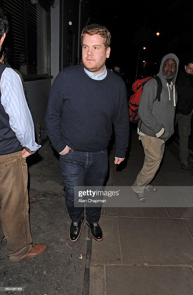 James Corden sighting at the Groucho Club on January 31, 2013 in London, England.