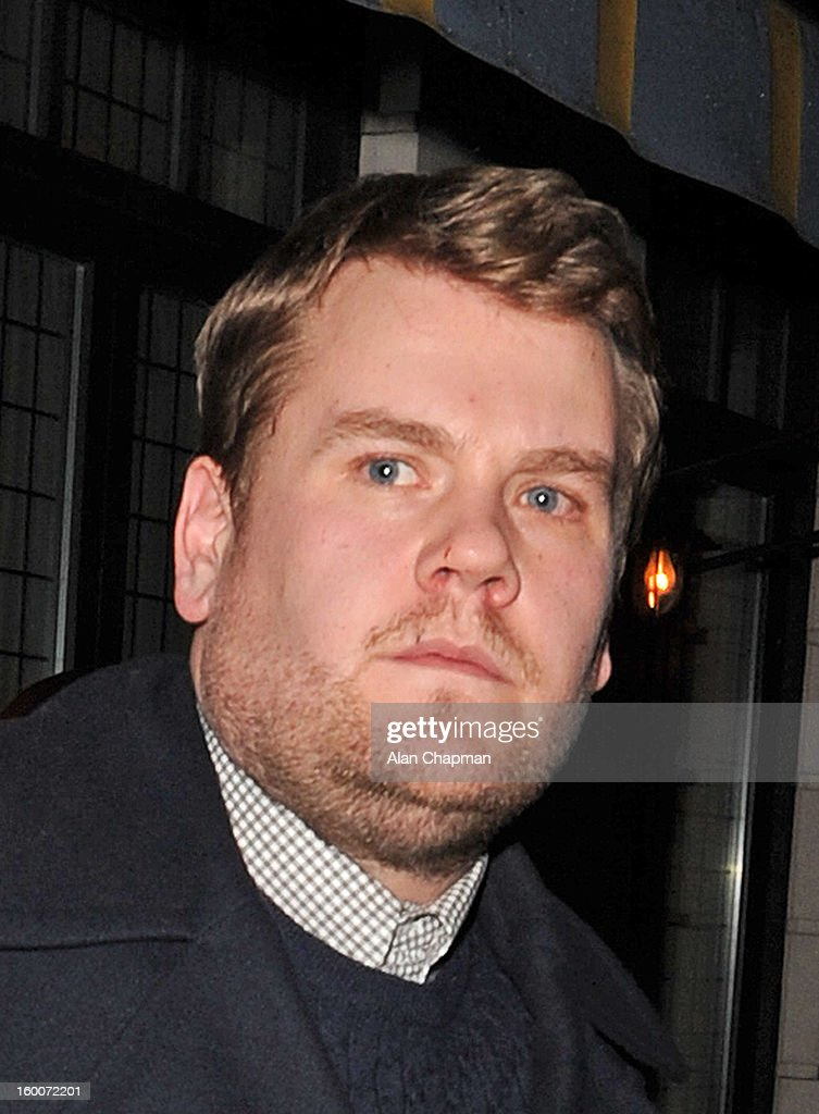 James Corden sighting in Mayfair on January 25, 2013 in London, England.