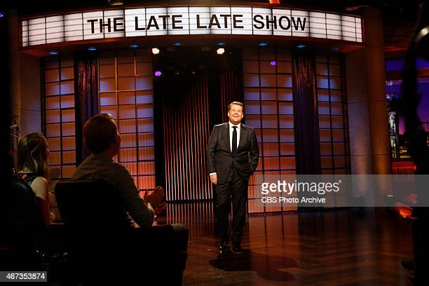 James Corden steps on stage for the first episode of The Late Late Show with James Corden premiering Monday March 23 on the CBS Television Network