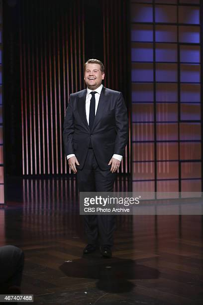James Corden steps on stage for the first episode of 'The Late Late Show with James Corden' premiering Monday March 23 on the CBS Television Network