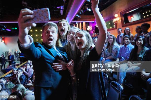 James Corden takes a selfie with the audience during 'The Late Late Show with James Corden' Thursday July 27 2017 On The CBS Television Network