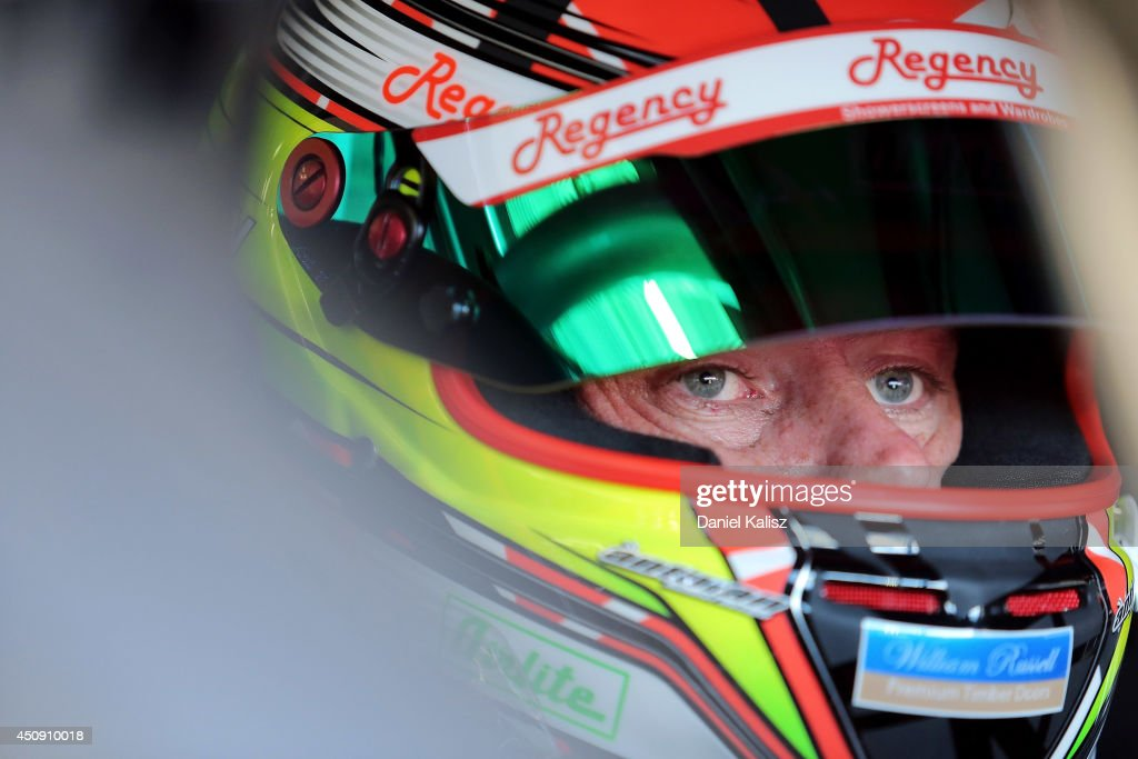 <a gi-track='captionPersonalityLinkClicked' href=/galleries/search?phrase=James+Courtney&family=editorial&specificpeople=675267 ng-click='$event.stopPropagation()'>James Courtney</a> driver of the #22 Holden Racing Team Holden during practice for the Triple Crown Darwin, which is round six of the V8 Supercar Championship Series at Hidden Valley Raceway on June 20, 2014 in Darwin, Australia.
