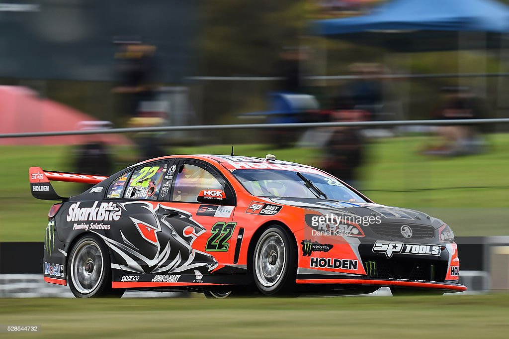 James Courtney drives the #22 Holden Racing Team Holden Commodore VF during practice for the V8 Supercars Perth SuperSprint at Barbagallo Raceway on May 6, 2016 in Perth, Australia.