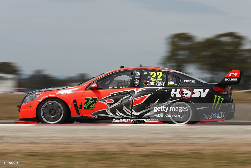 James Courtney drives the #22 Holden Racing Team Holden during a V8