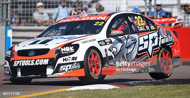James Courtney drives the Holden Racing Team Holden during practice for race 20 and 21 for the Townsville 500 which is round seven of the V8 Supercar...