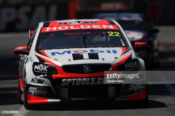 James Courtney drives the Holden Racing Team Holden during practice for the Clipsal 500 which is round one of the V8 Supercar Championship Series at...