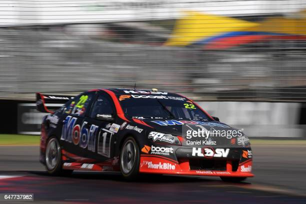 James Courtney drives the Mobil 1 HSV Racing Holden Commodore VF during race 1 for the Clipsal 500 which is part of the Supercars Championship at...