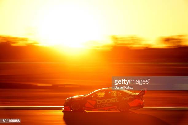 James Courtney drives the Mobil 1 HSV Racing Holden Commodore VF during race 15 for the Ipswich SuperSprint which is part of the Supercars...