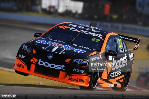 James Courtney drives the Mobil 1 HSV Racing Holden Commodore VF during practice for the Perth SuperSprint which is part of the Supercars...
