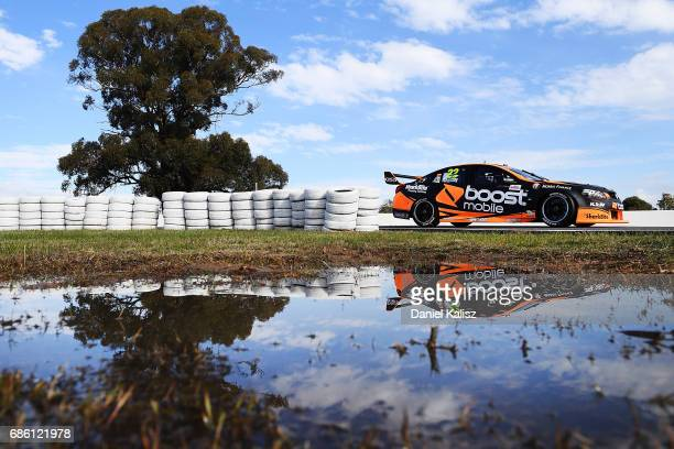 James Courtney drives the Mobil 1 HSV Racing Holden Commodore VF during qualifying for race 10 for the Winton SuperSprint which is part of the...