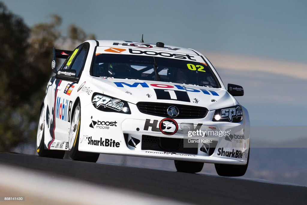 James Courtney drives the #22 Mobil 1 HSV Racing Holden Commodore VF during qualifying ahead of this weekend's Bathurst 1000, which is part of the Supercars Championship at Mount Panorama on October 6, 2017 in Bathurst, Australia.